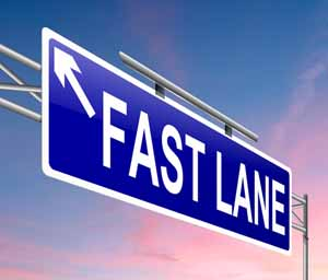 fast lane sign
