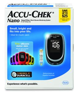 accu chek nano glucose meter
