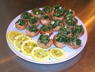 diabetic spinach stuffed mushrooms